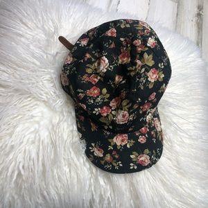 Vans Hat Floral Black Girls one size adjustable